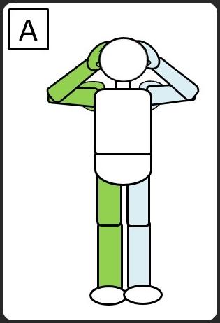 腹斜筋 立って同じひじと膝をつける 最初