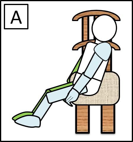 足を45度に曲げた足を上げる 最初