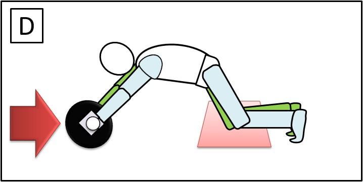 腹筋ローラー ひざをついて 戻す