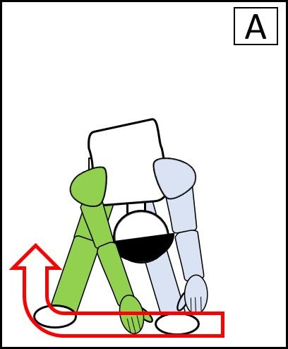 体を回す 左下