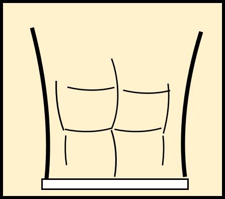 6パックの腹筋