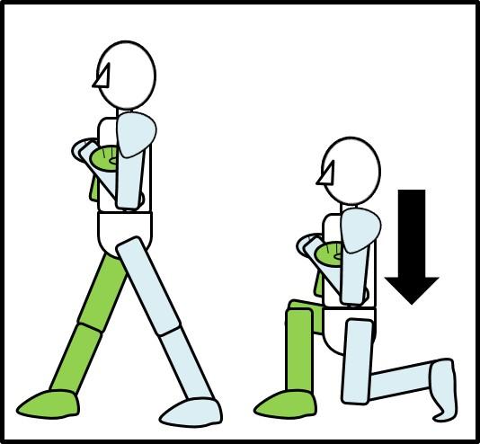 ワイドスクワットの体の落とし方