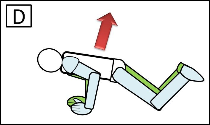 腕立て伏せ ひざをついて 上げる時