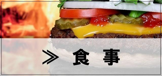 食事のカテゴリーに関して