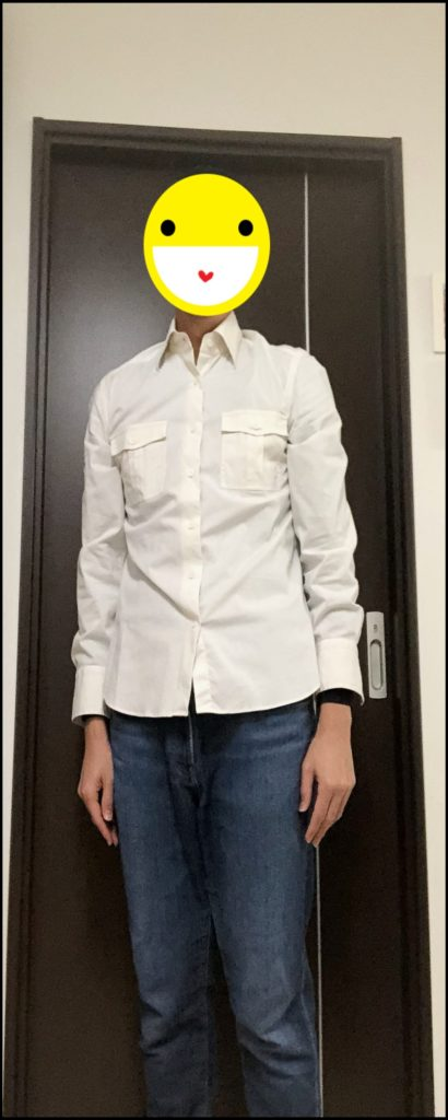 白い服を着た自分