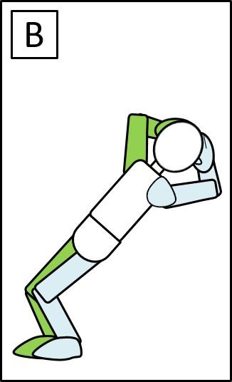 スクワット ひざを曲げる時 膝を曲げた場合