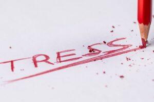 鉛筆で書いたストレス