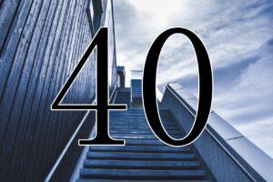 階段と40の数字