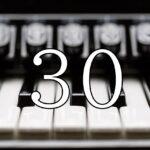 ピアノと30の数字