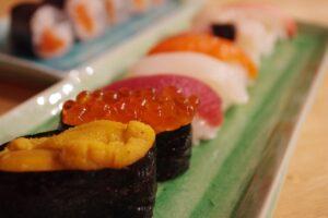 寿司屋のカウンター