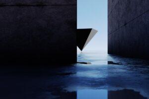 幾何学的な壁
