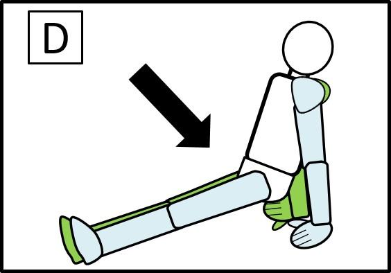 プリズナートレーニング 腹筋 ステップ2 下げる時